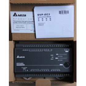 DVP24EC00R3 Delta EC3 Series Standard PLC DI 12 DO 12 Relay 100-240VAC new in box