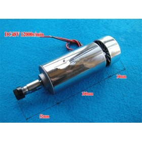 400W ER11 DC Brushed Spindle Motor Air cooling 3000-12000rpm DC12-48V DIY CNC Engraving Drilling