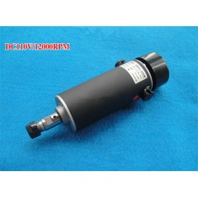 500W ER11 DC Brushed Spindle Motor Air cooling 3000-12000rpm DC24-110V DIY CNC Engraving Drilling