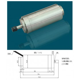 100w 0.1kw ER8 60000rpm Precision High Speed spindle motor nature cooling 36VAC 1.5A 1000HZ 48mm 2 bearings CNC Router