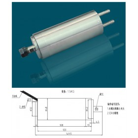 300w 0.3kw ER8 60000rpm Precision High Speed spindle motor water cooling 75VAC 5A 1000HZ 48mm 2 bearings CNC Router