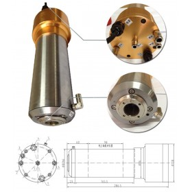 2HP 1.5kw 24000RPM ISO20 3 bearings Automatic Tool Changes ATC Spindles GDL80-20-24Z-1.5 220VAC CNC Router