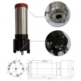 3HP 2.2kw 30000RPM ISO20 3 bearings Automatic Tool Changes ATC Spindles GDL80-20-30Z-2.2 220VAC CNC Router