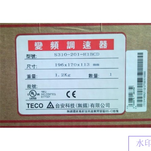 S310-201-H1BCD TECO Single Phase 1phase 220V 4 2A output
