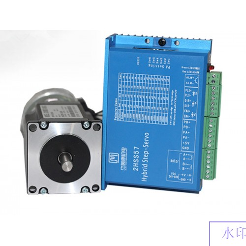 2 phase NEMA 23 2N.m 283ozf.in Closed loop Stepper servo motor driver kit&brake JMC 2HSS57+57J1880EC-1000-SC