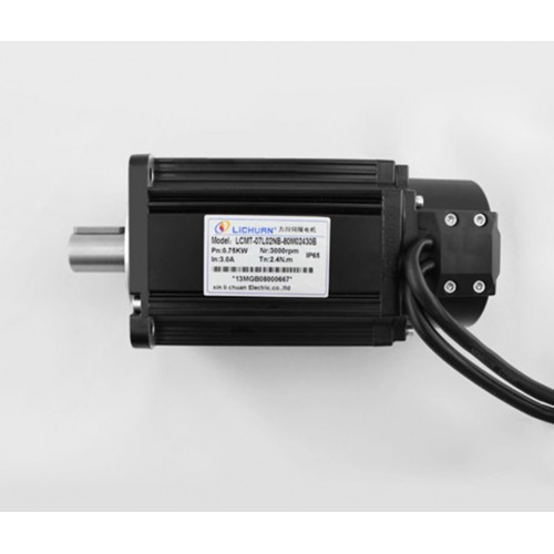 1phase 220V 750W 0.75KW 2.4N.m 3000rpm 80mm AC servo motor drive kit 2500ppr with 3m cable