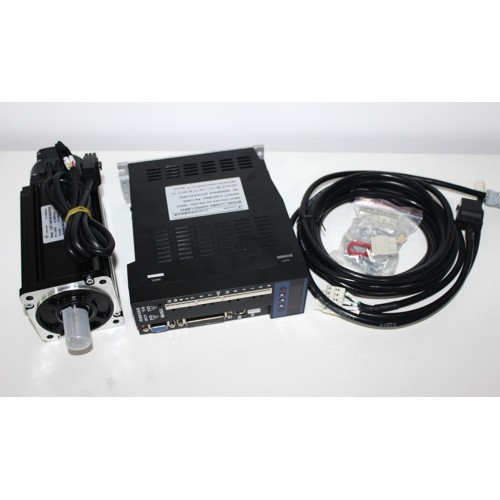 1phase 220V 1000W 1KW 4N.m 2500rpm 80mm AC servo motor drive kit 2500ppr with 3m cable