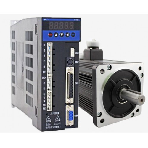3phase 220V 1500w 1.5kw 5N.m 3000rpm 110mm AC servo motor drive kit 2500ppr with 3m cable