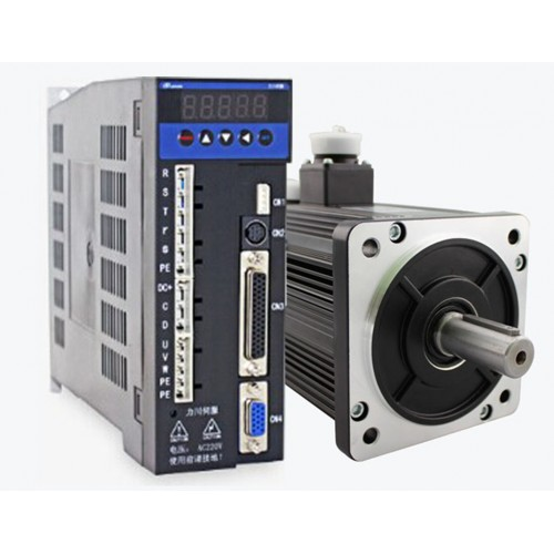 3phase 220V 1300w 1.3kw 5N.m 2500rpm 130mm AC servo motor drive kit 2500ppr with 3m cable
