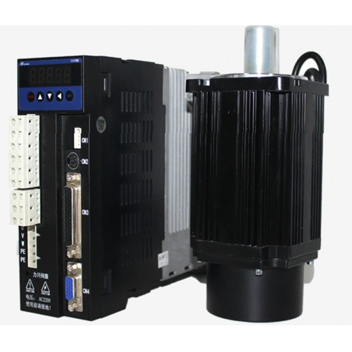 3phase 220V 1500w 1.5kw 6N.m 2500rpm 130mm AC servo motor drive kit 2500ppr with 3m cable