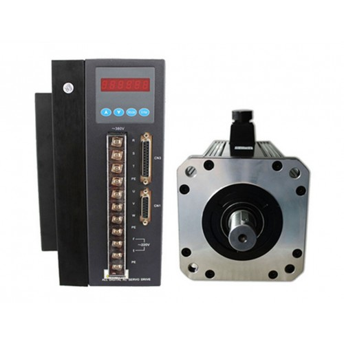 3phase 380V 7.5kw 48N.m 1500rpm 180mm AC servo motor drive kit 2500ppr with 3m cable